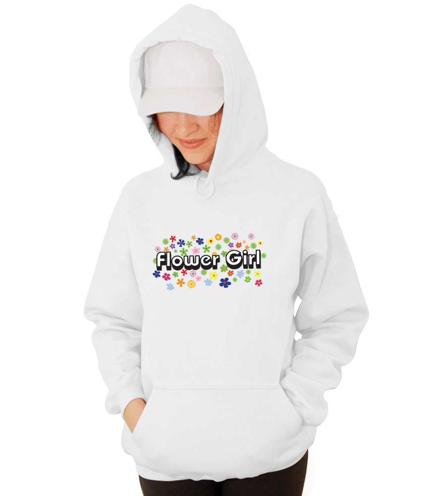 Flower Girl Wedding Hooded Sweatshirt