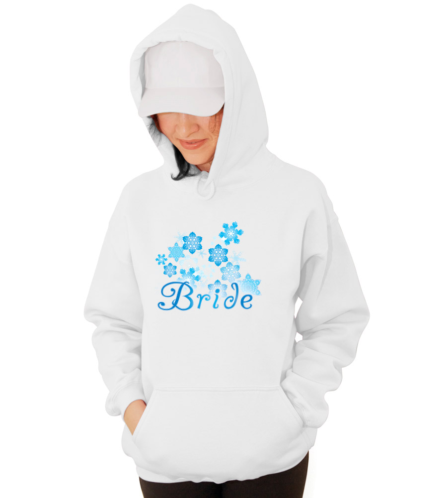 Winter Bride Wedding Hooded Sweatshirt