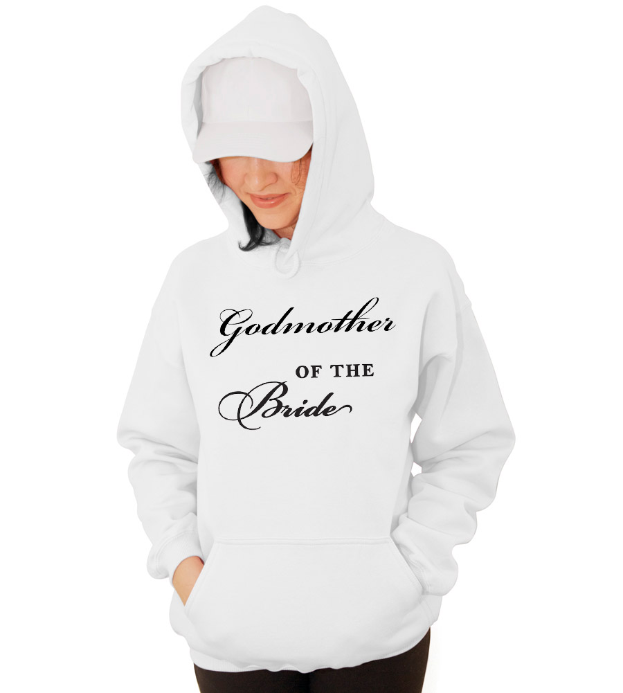 Godmother of the Bride Wedding Hooded Sweatshirt