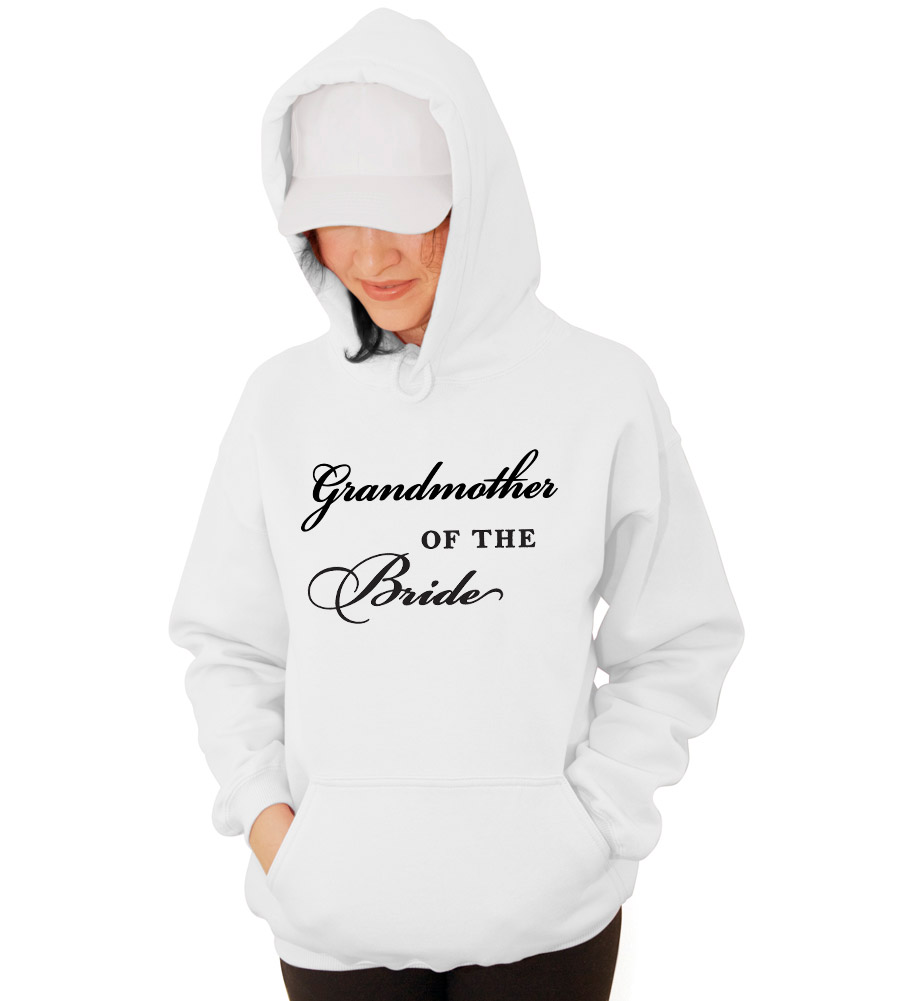 Grandmother of the Bride Wedding Hooded Sweatshirt
