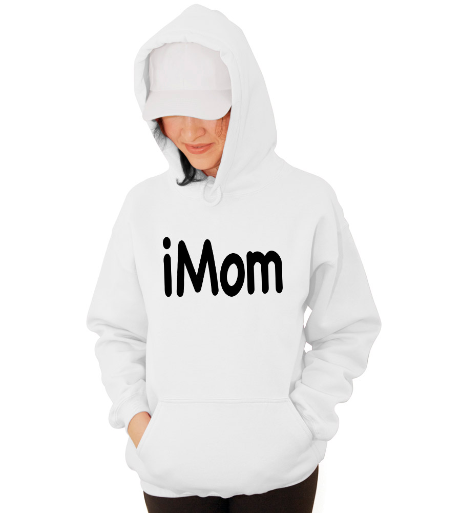 Imom Pregnancy Test Funny Hooded Sweatshirt