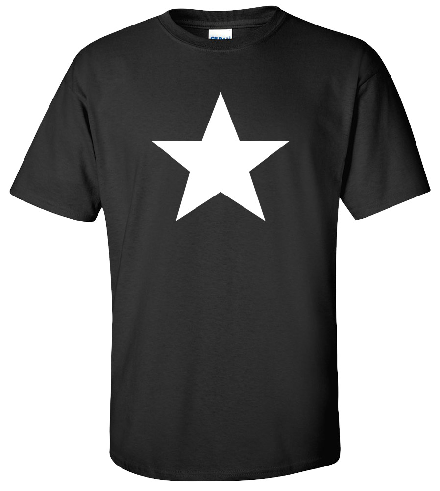 White Star Retro Geek Skater Music Rock Punk T-shirt New Army Strong USA Tee