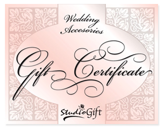 Rose Petals Wedding Gift Certificate