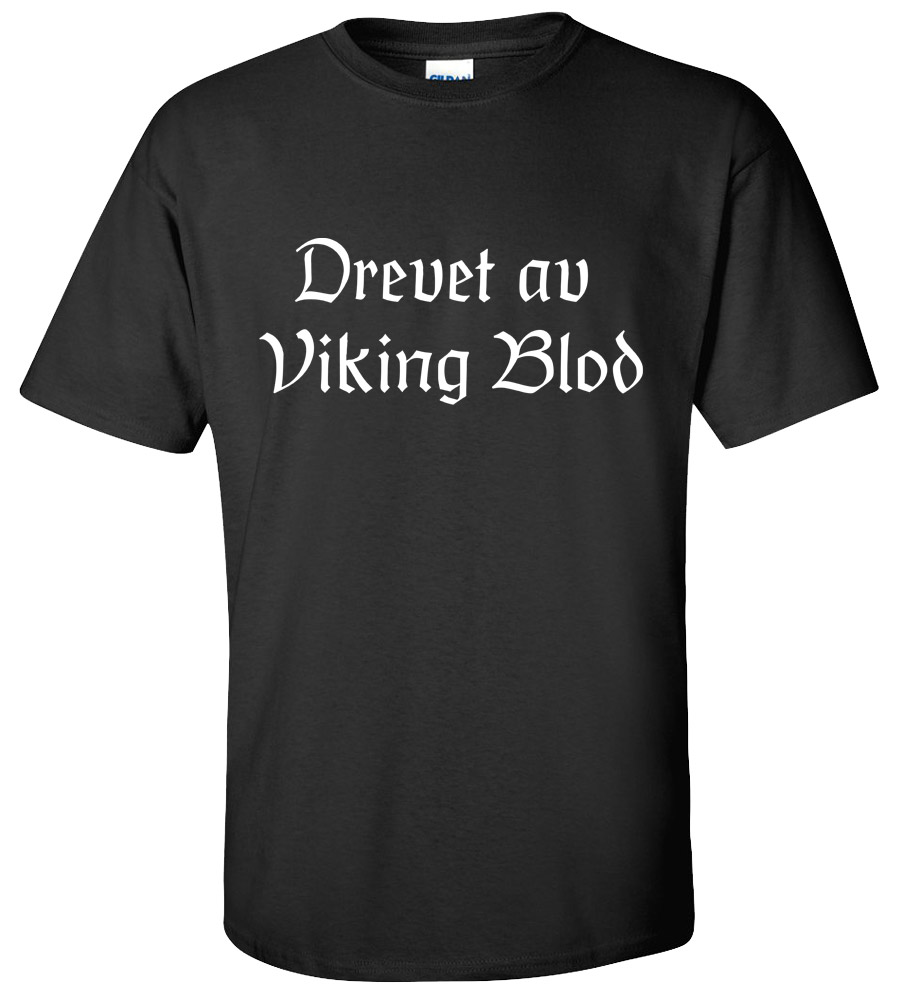 Drevet av Viking Blod t-shirt Powered by Viking Blood Norwegian Football Fan T-shirt