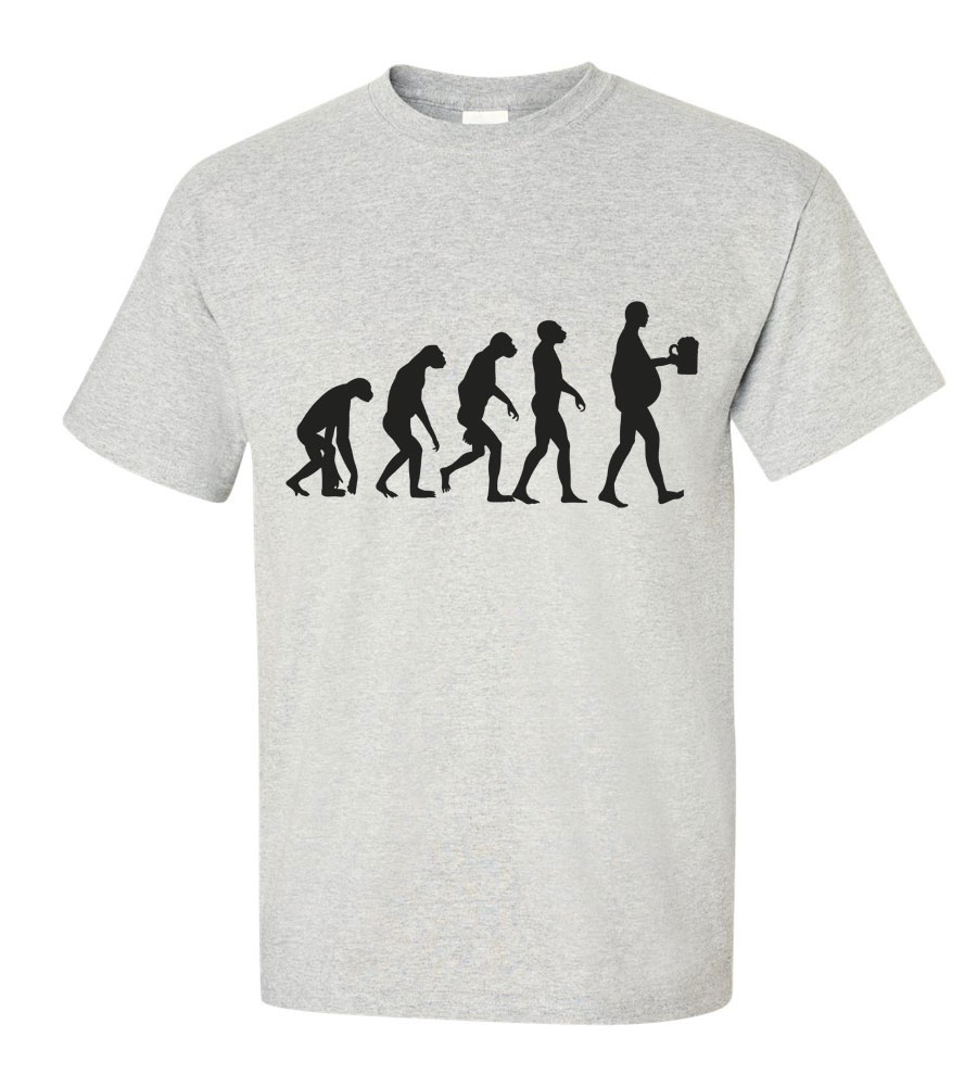 Evolution of Man Beer Funny T Shirt