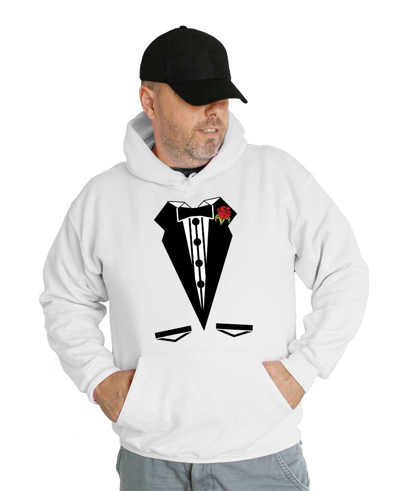 Tuxedo Groom Wedding Hooded Sweatshirt