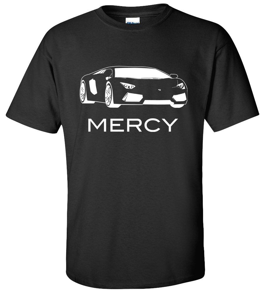Lamborghini Mercy - Exotic Car T-shirt Super Fast and Furious Speed Tuning Turbo Car Tee Logo