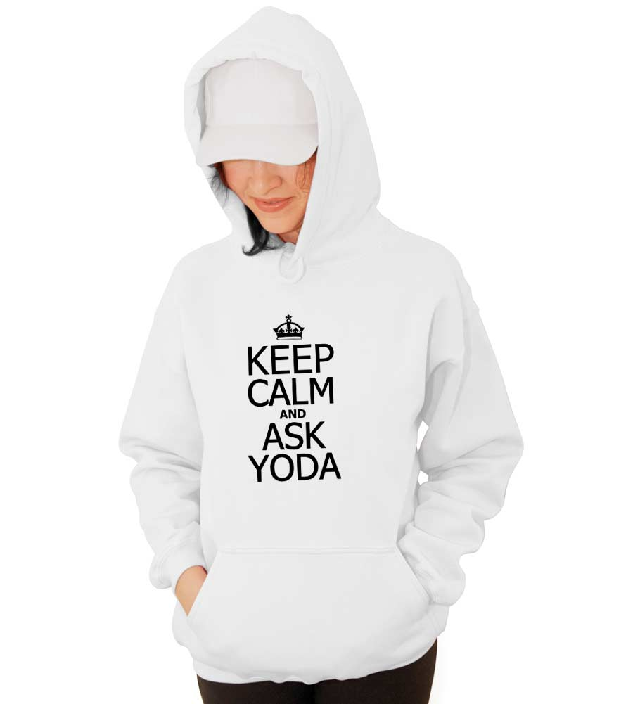 Keep Calm and Ask Yoda Hooded Sweatshirt