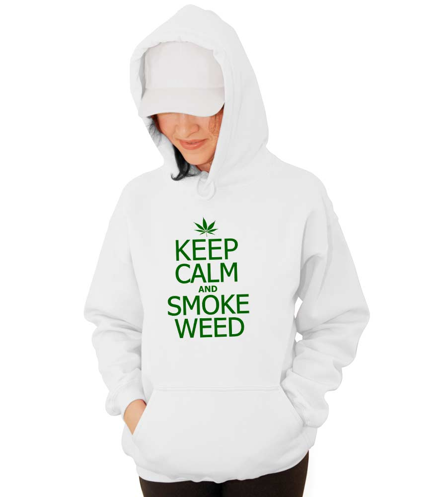 Keep Calm and Smoke Weed Hooded Sweatshirt
