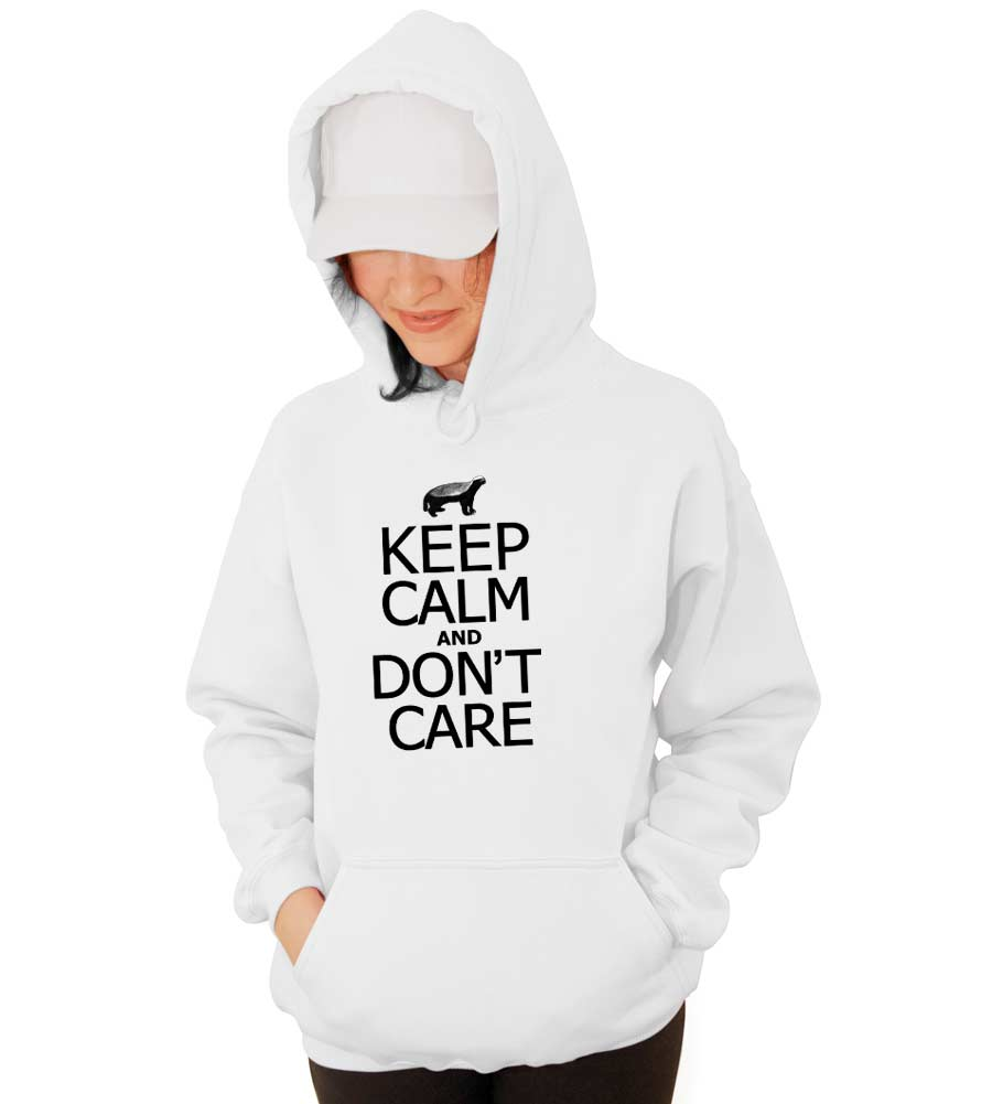 Keep Calm and Don't Care Hooded Sweatshirt