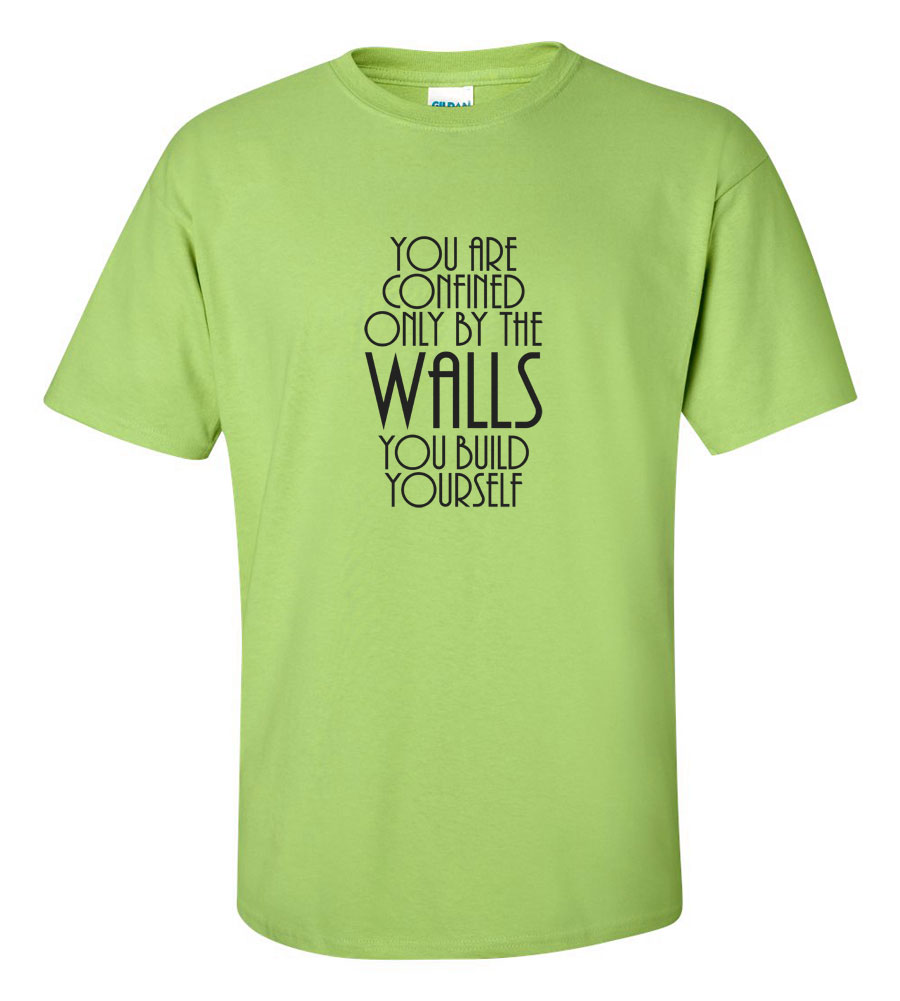 You Are Confined Only By The walls You Build Yourself T-shirt