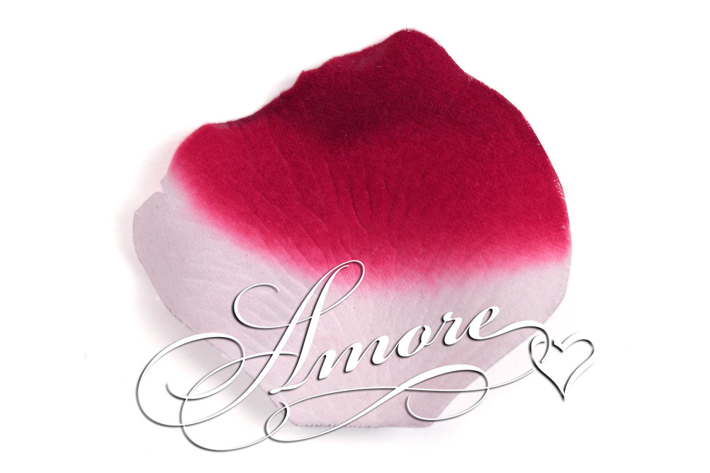 10 000 Silk Rose Petals France (Burgundy and White)