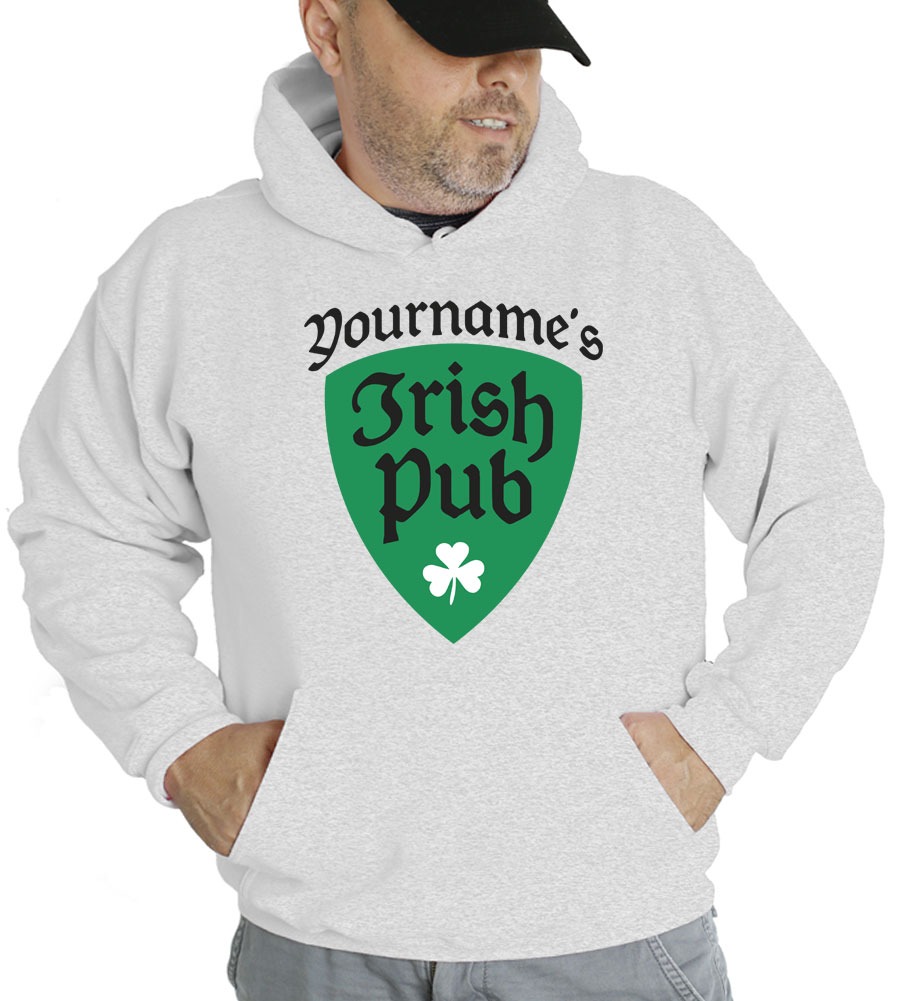Saint Patrick's Day Your Name's Irish Pub Hooded Sweatshirt