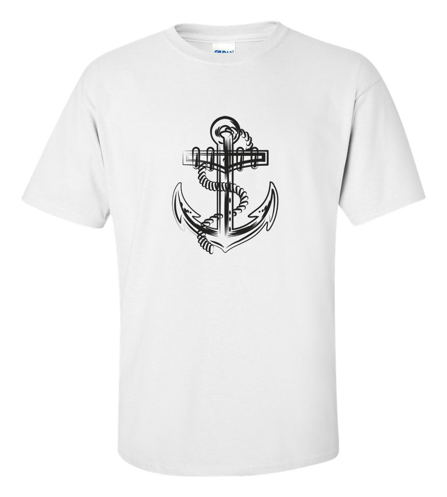 Anchor T-shirt Marine Navy Sail Funny