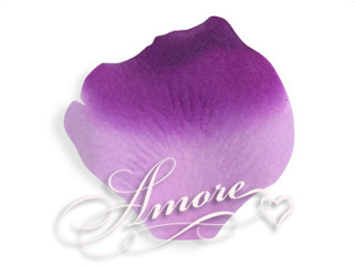 Grape Purple and Lavender Silk Rose Petals Wedding 600