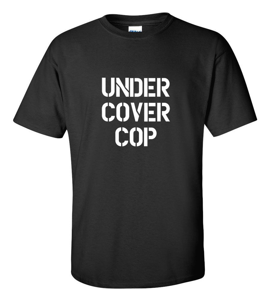 Halloween Under Cover Cop T-shirt Funny Scary