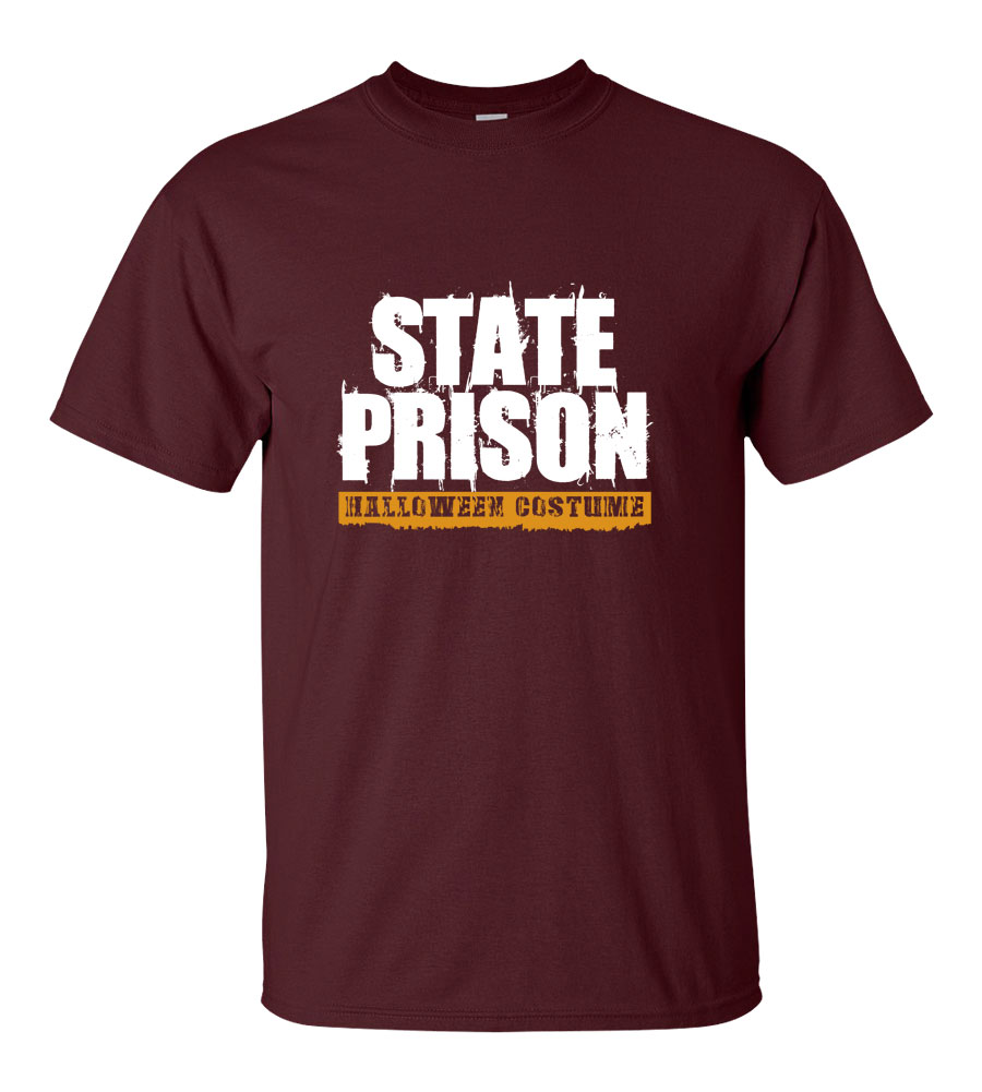 State Prison Halloween Costume T-shirt Funny Scary