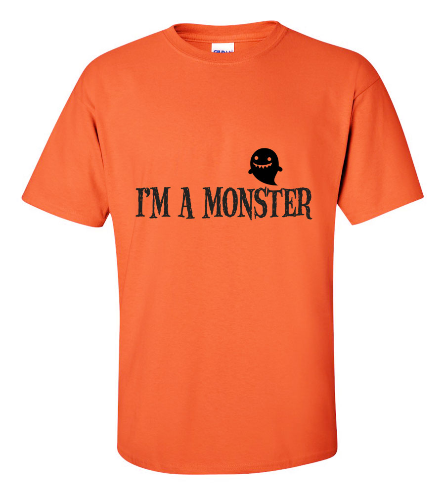 Halloween I'm A Monster T-shirt Funny Scary