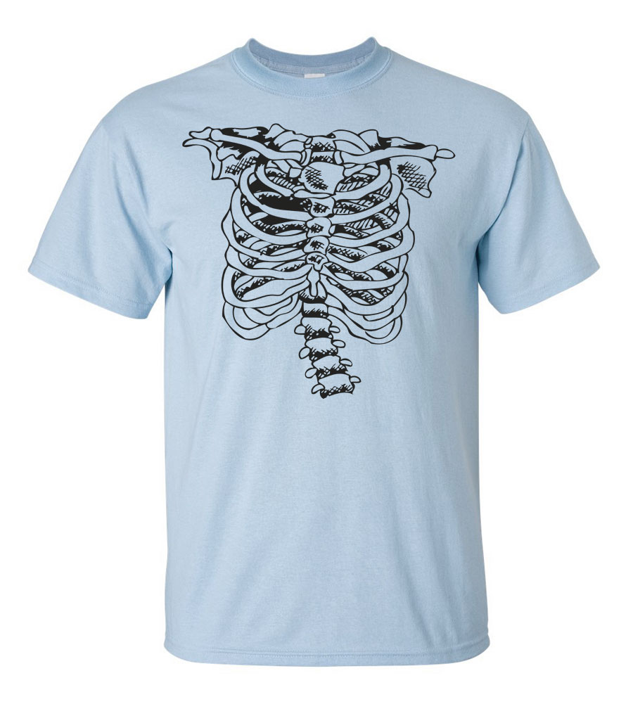 Halloween Rib Cage T-shirt Funny Scary