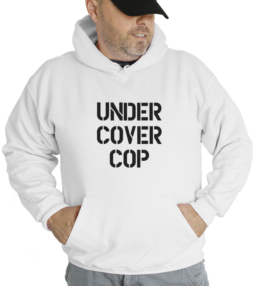 Under Cover Cop Halloween Costume Hooded Sweatshirt