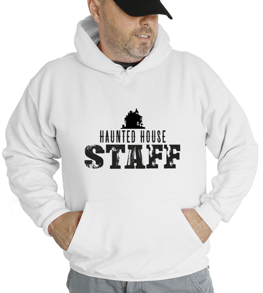 Halloween Haunted House Staff Hooded Sweatshirt