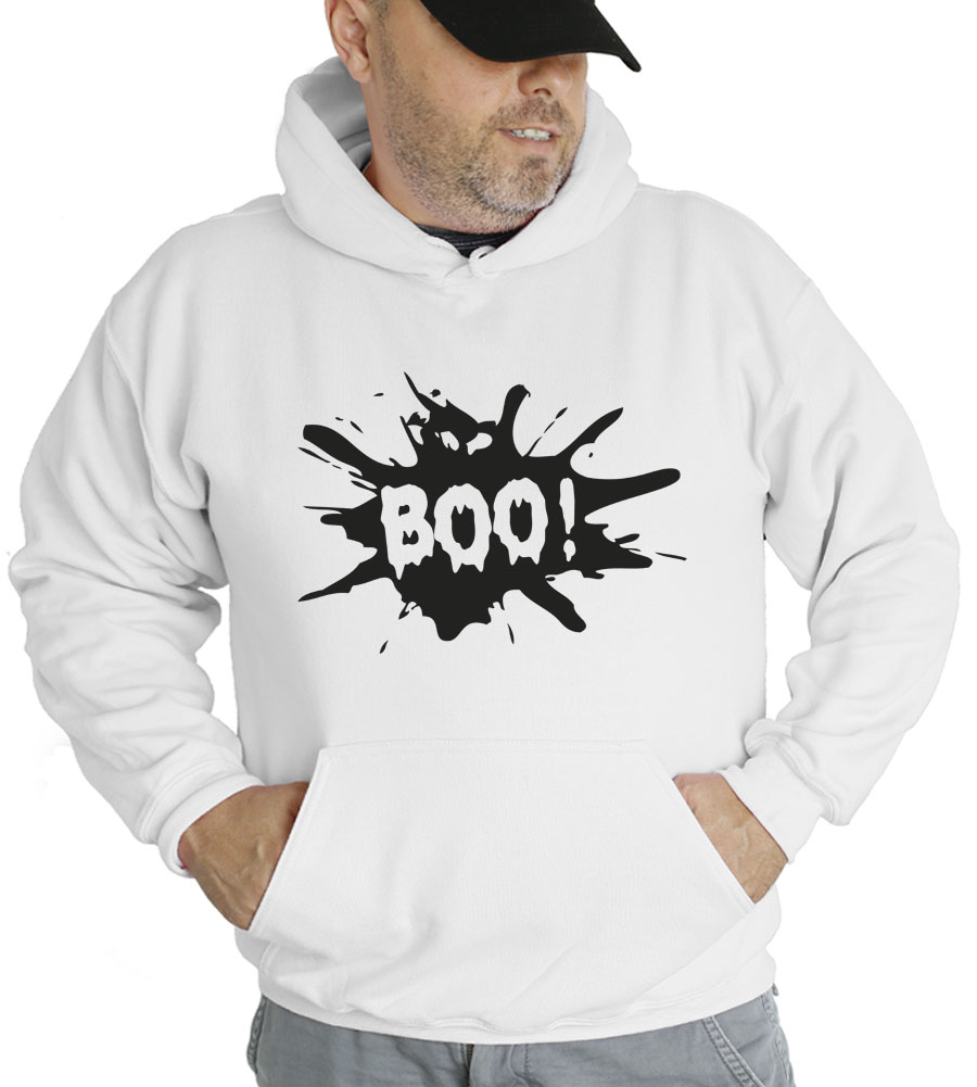 Halloween Boo Hooded Sweatshirt