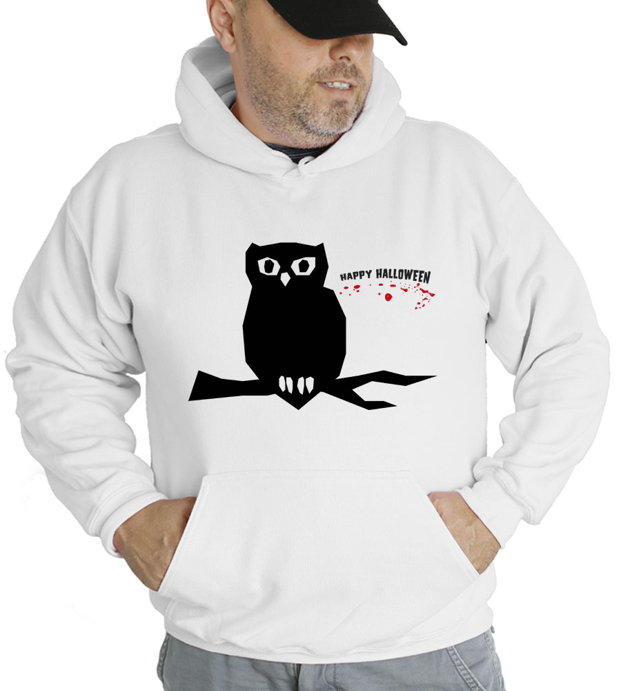 Halloween Owl Hooded Sweatshirt