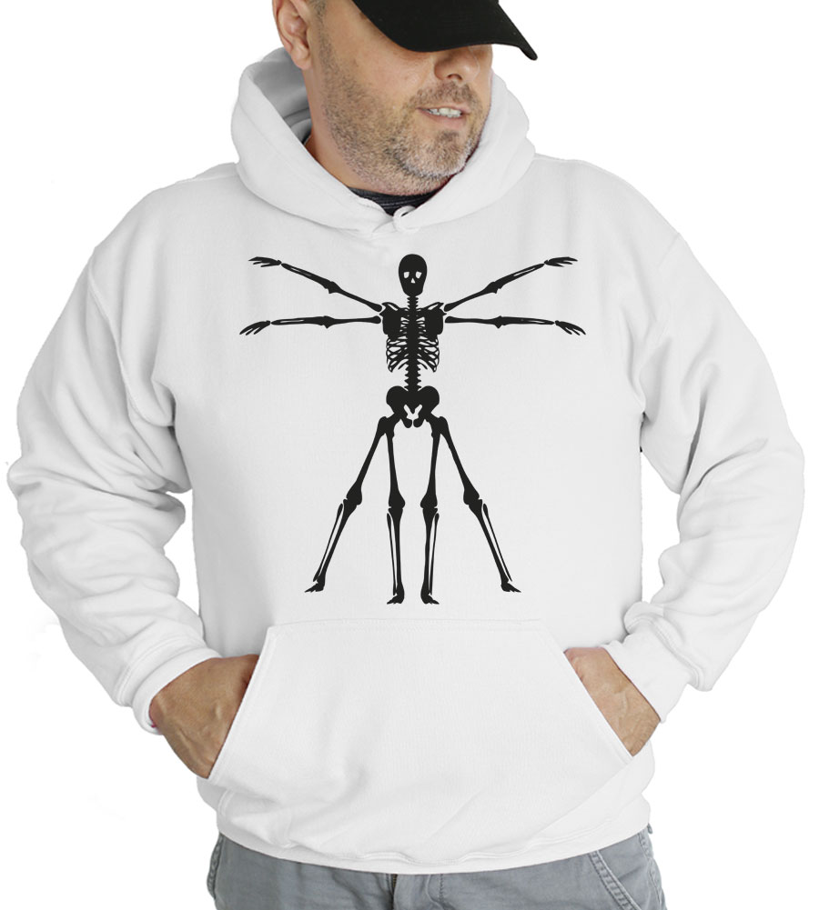 Halloween Skeleton Hooded Sweatshirt