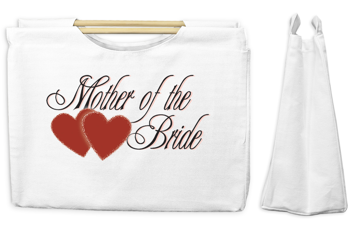 Mother Of The Bride Canvas Tote with Wooden Handles Bag