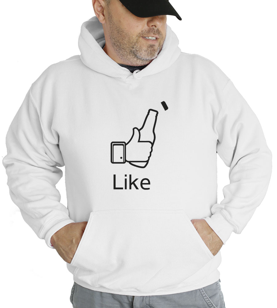 Facebook Like Beer Bottle Hooded Sweatshirt