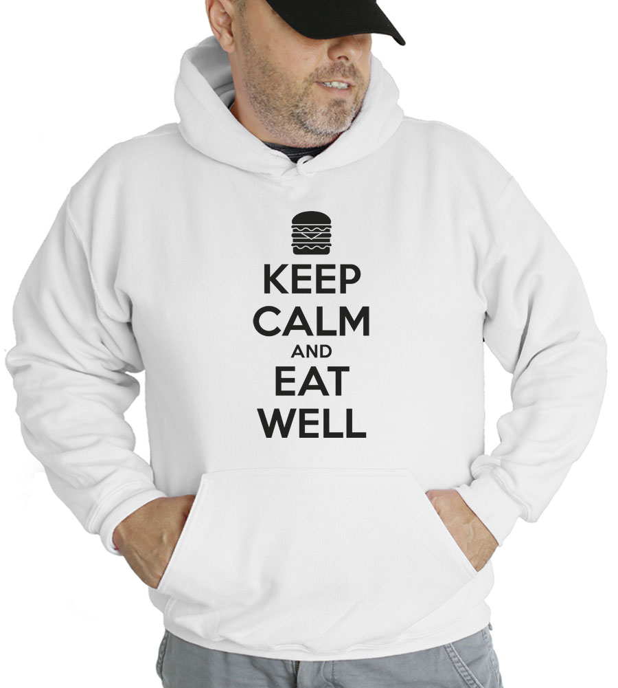 Keep Calm and Eat Well Hooded Sweatshirt