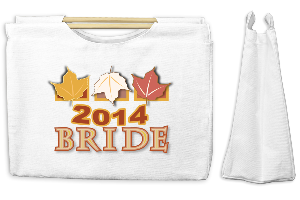 Fall Bride 2014 Canvas Tote with Wooden Handles Bag