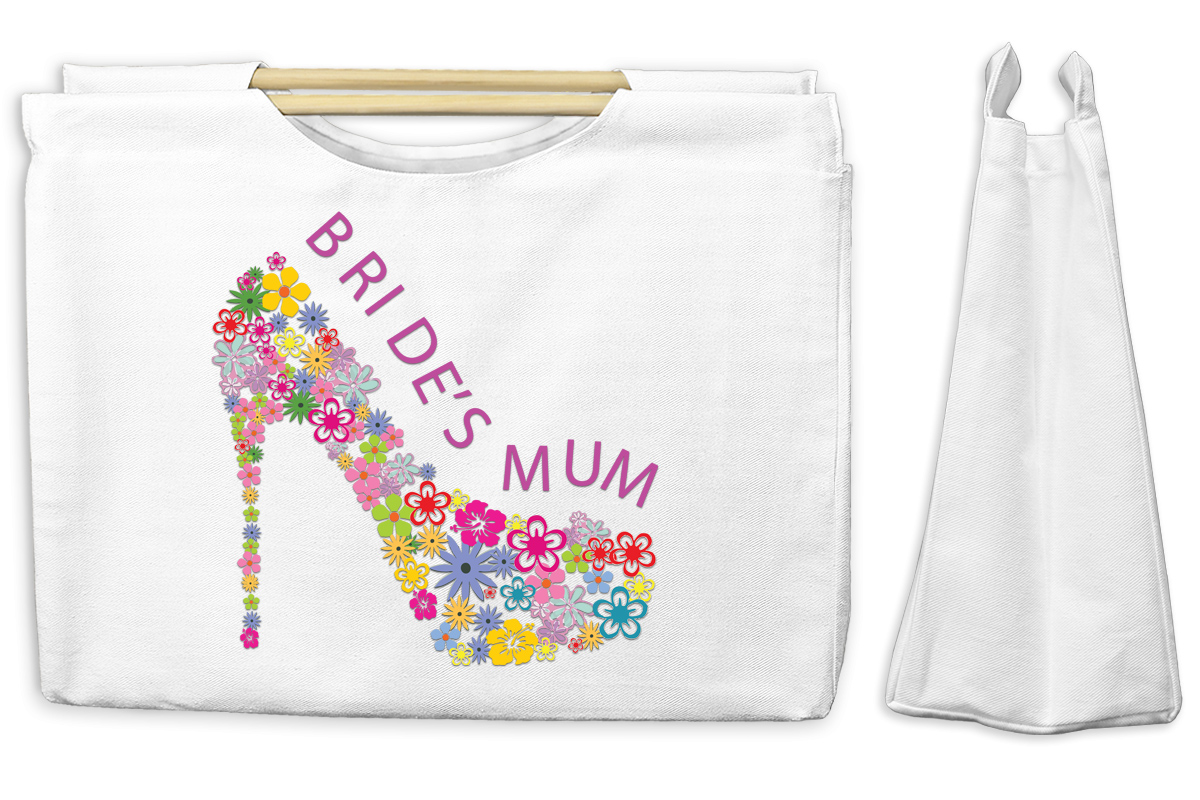 Bride's Mum Canvas Tote with Wooden Handles Bag