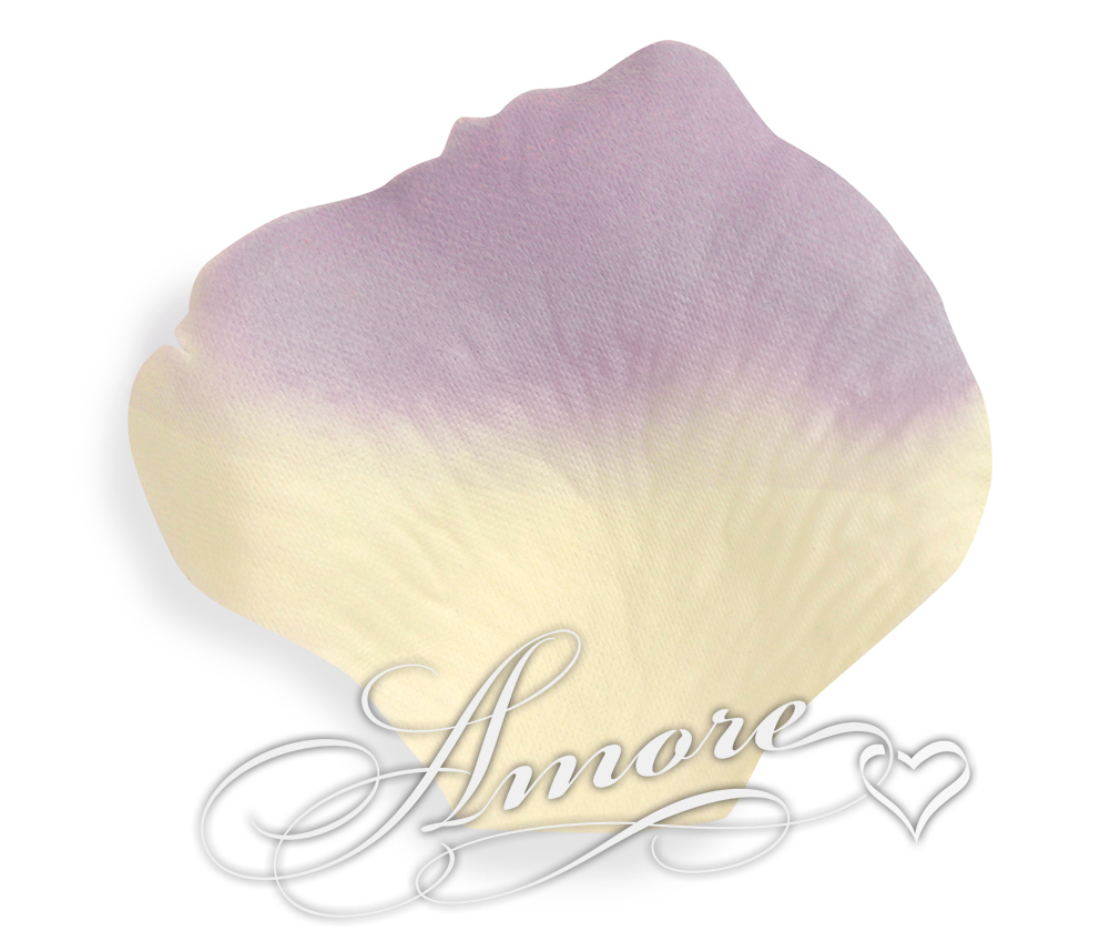 Lavender and Light Ivory Silk Rose Petals Wedding 1000
