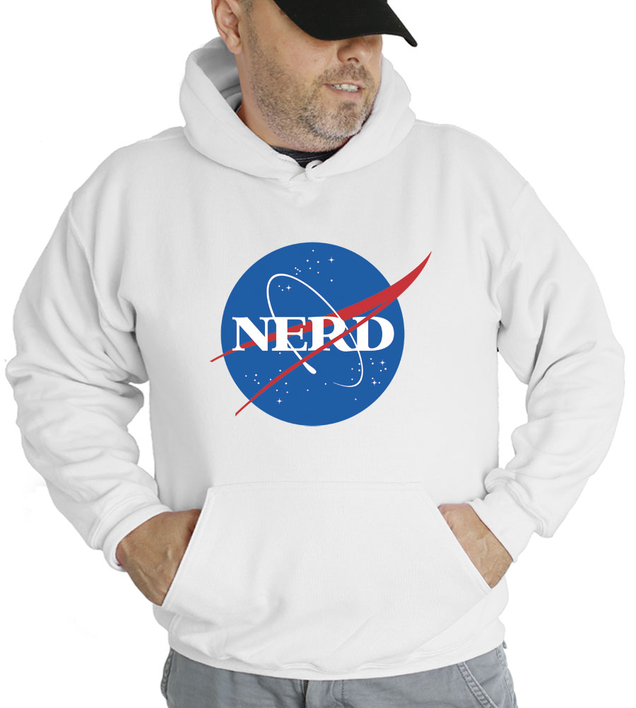 NASA Nerd Hooded Sweatshirt