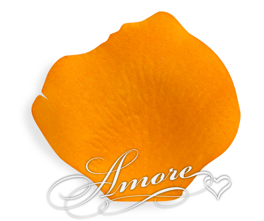 Burnt Orange Silk Wedding Rose Petals 200
