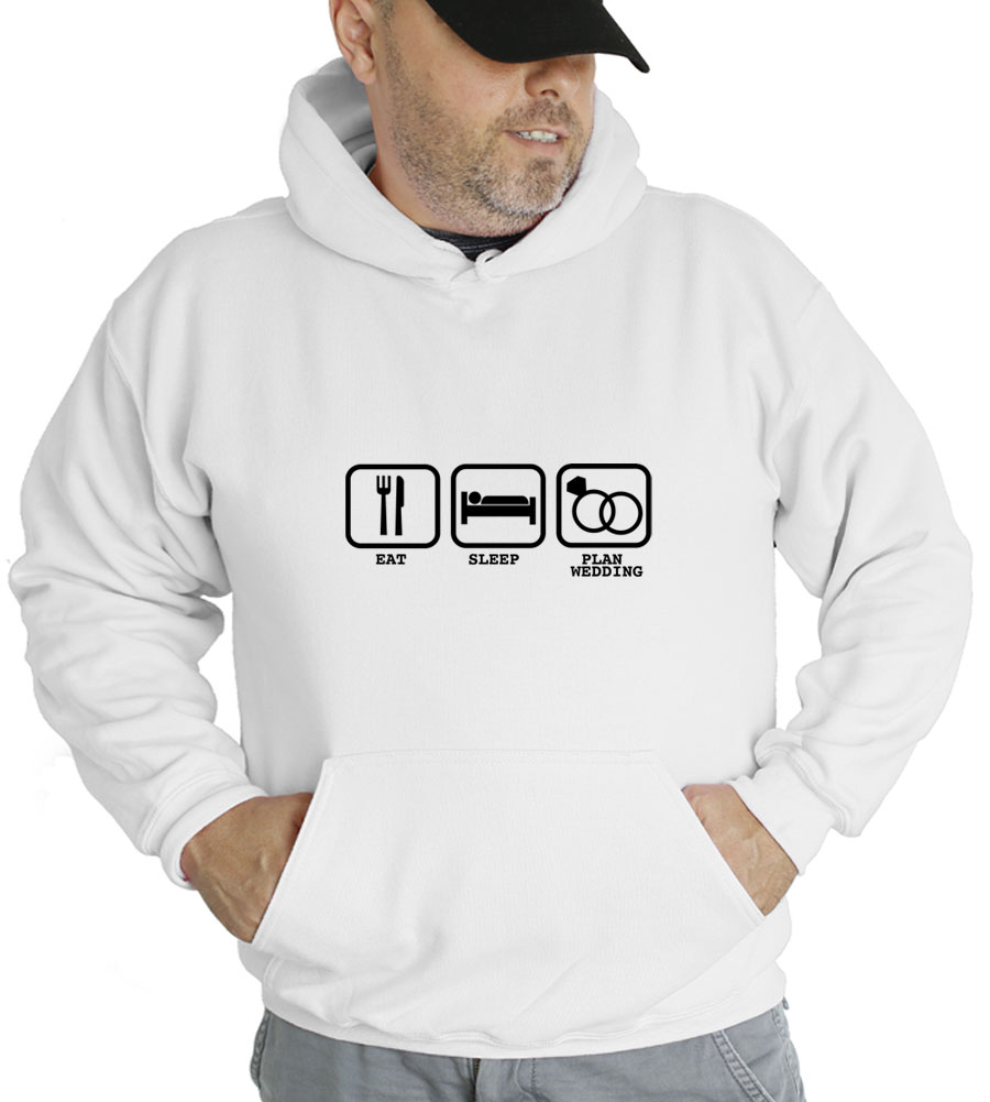 Eat Sleep Plan Wedding Hooded Sweatshirt