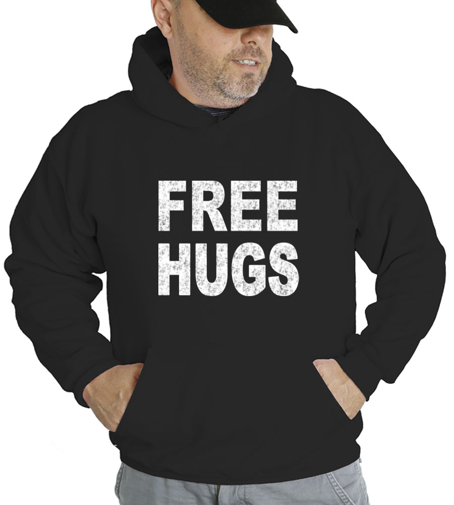 FREE HUGS bold Hooded Sweatshirt