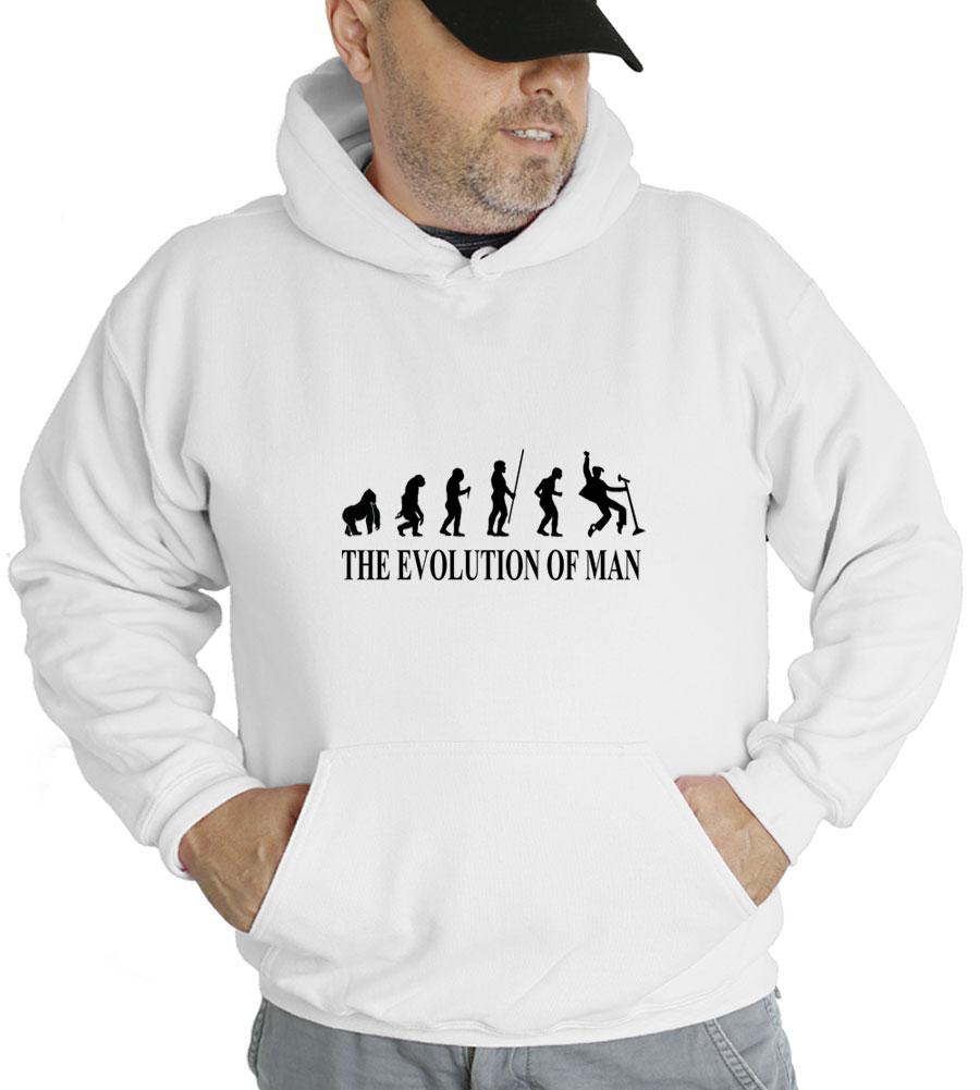 The Evolution of Man Rock N Roll Hooded Sweatshirt