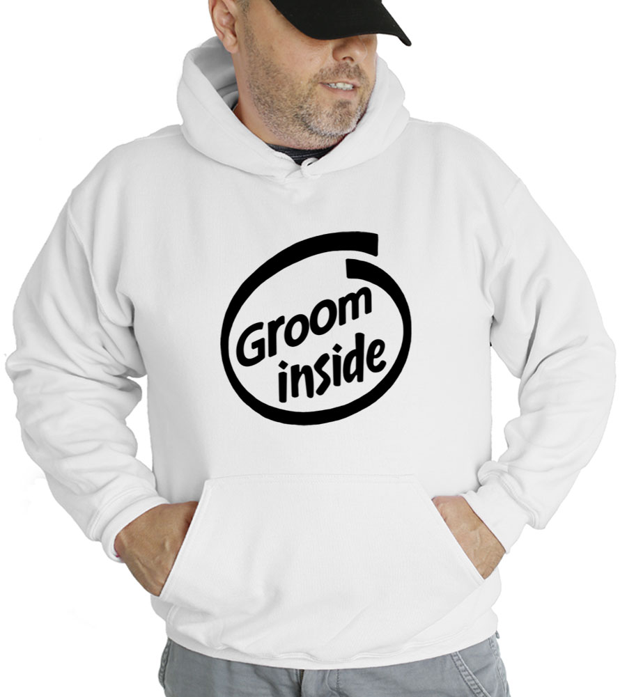 Groom Inside Hooded Sweatshirt