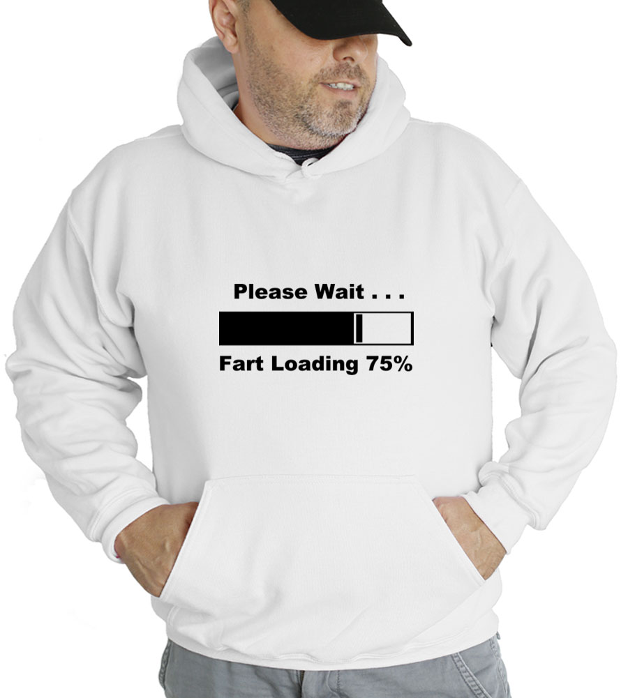 Please Wait Fart Loading Hooded Sweatshirt