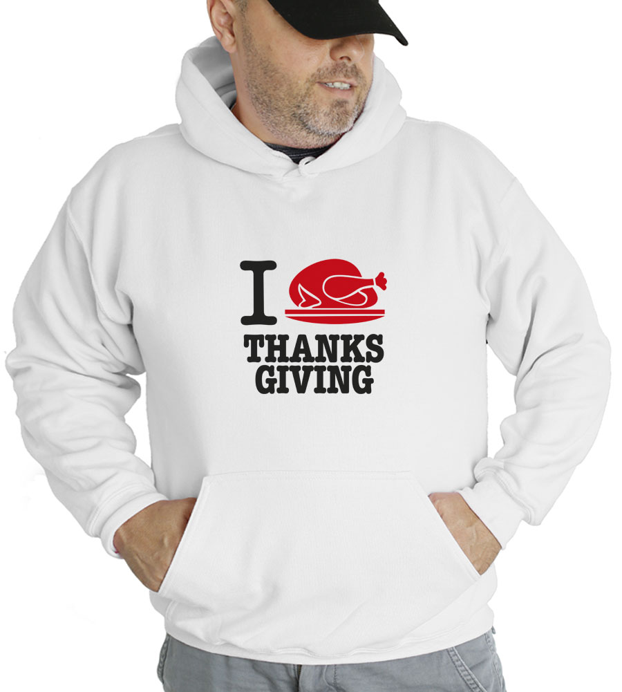 I Turkey Thanksgiving Hooded Sweatshirt