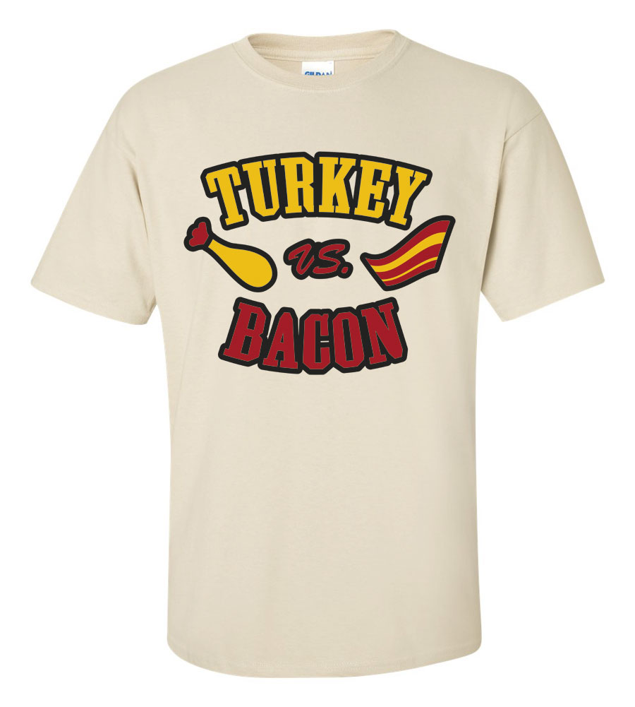 Turkey vs. Bacon Thanksgiving T-Shirt