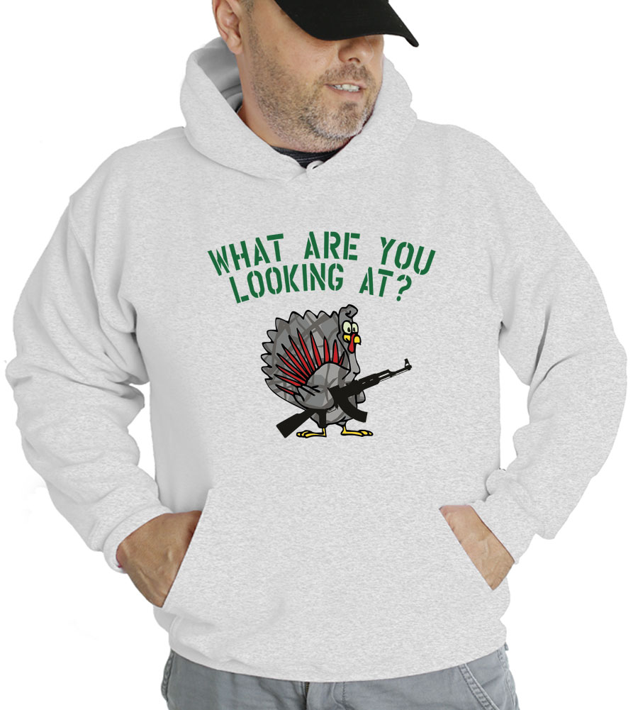 What Are You Looking At? Thanksgiving Hooded Sweatshirt