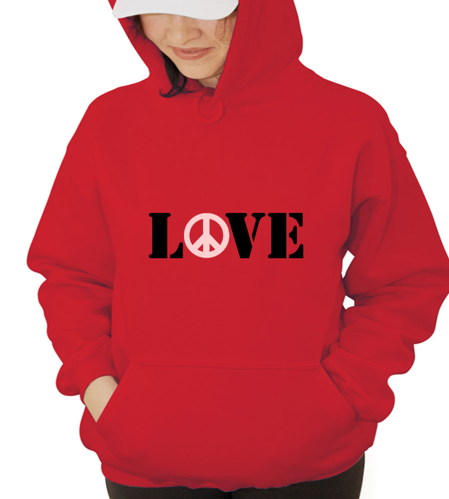 Love Peace Hooded Sweatshirt