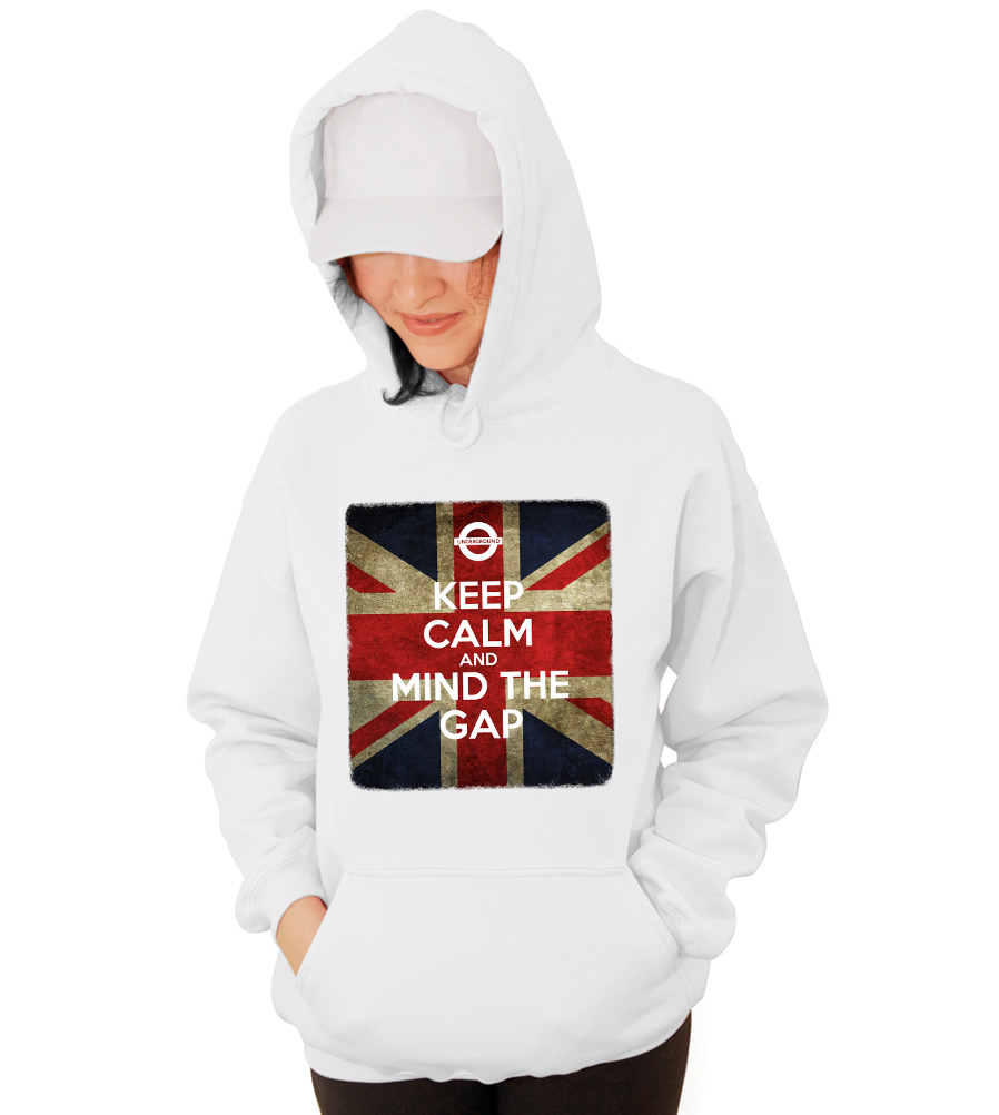Keep Calm and Mind The GAP Underground London Hooded Sweatshirt