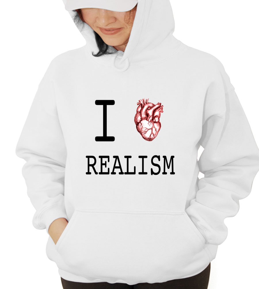 I Love Realism Hooded Sweatshirt