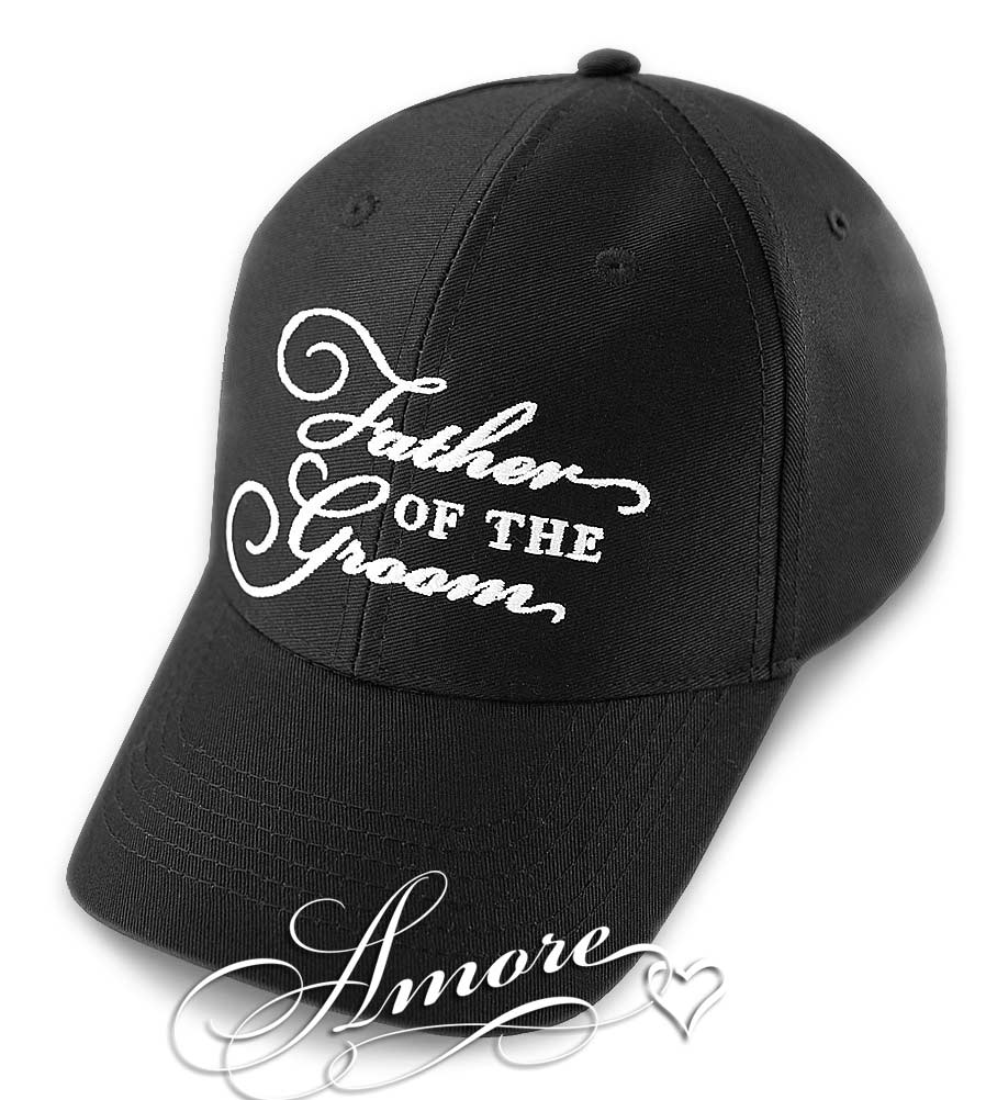 Father of the Groom Wedding Cap Black Hat