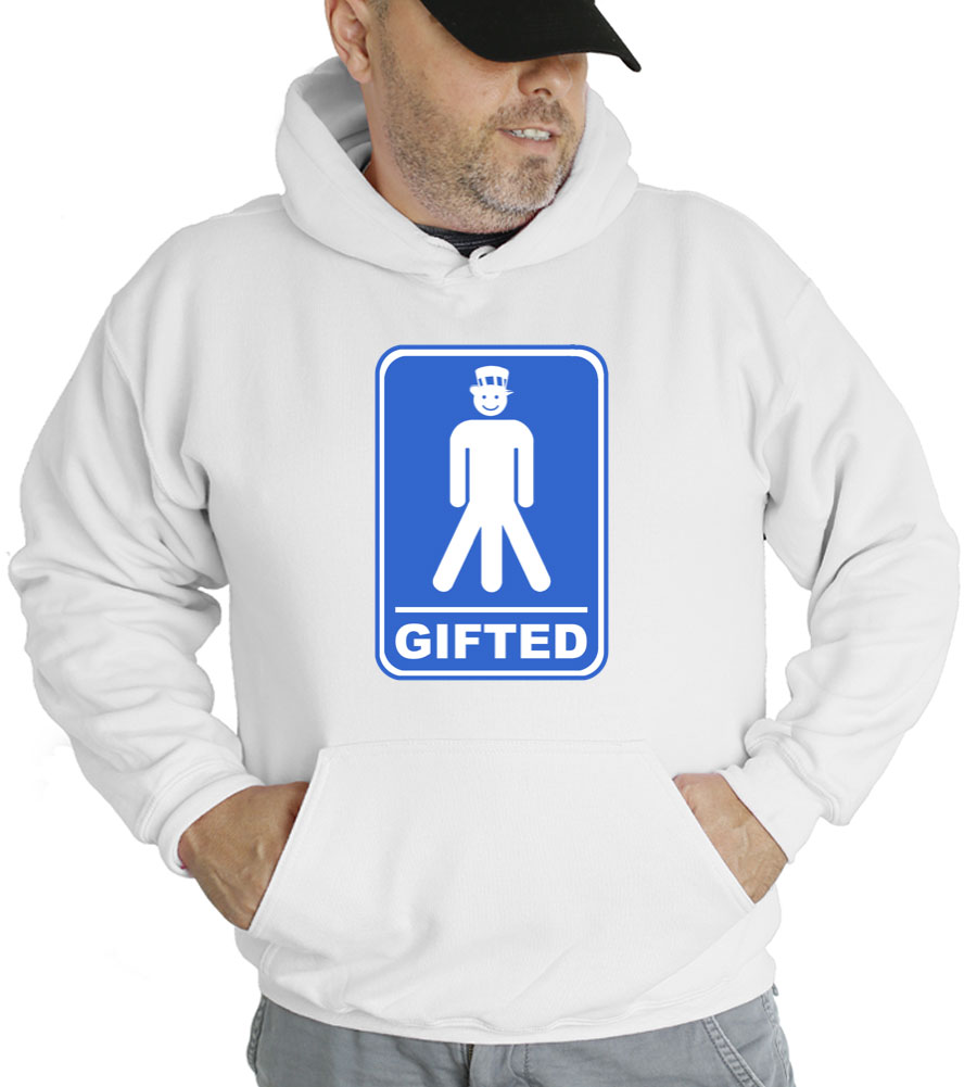 Gifted Happy Men Hooded Sweatshirt