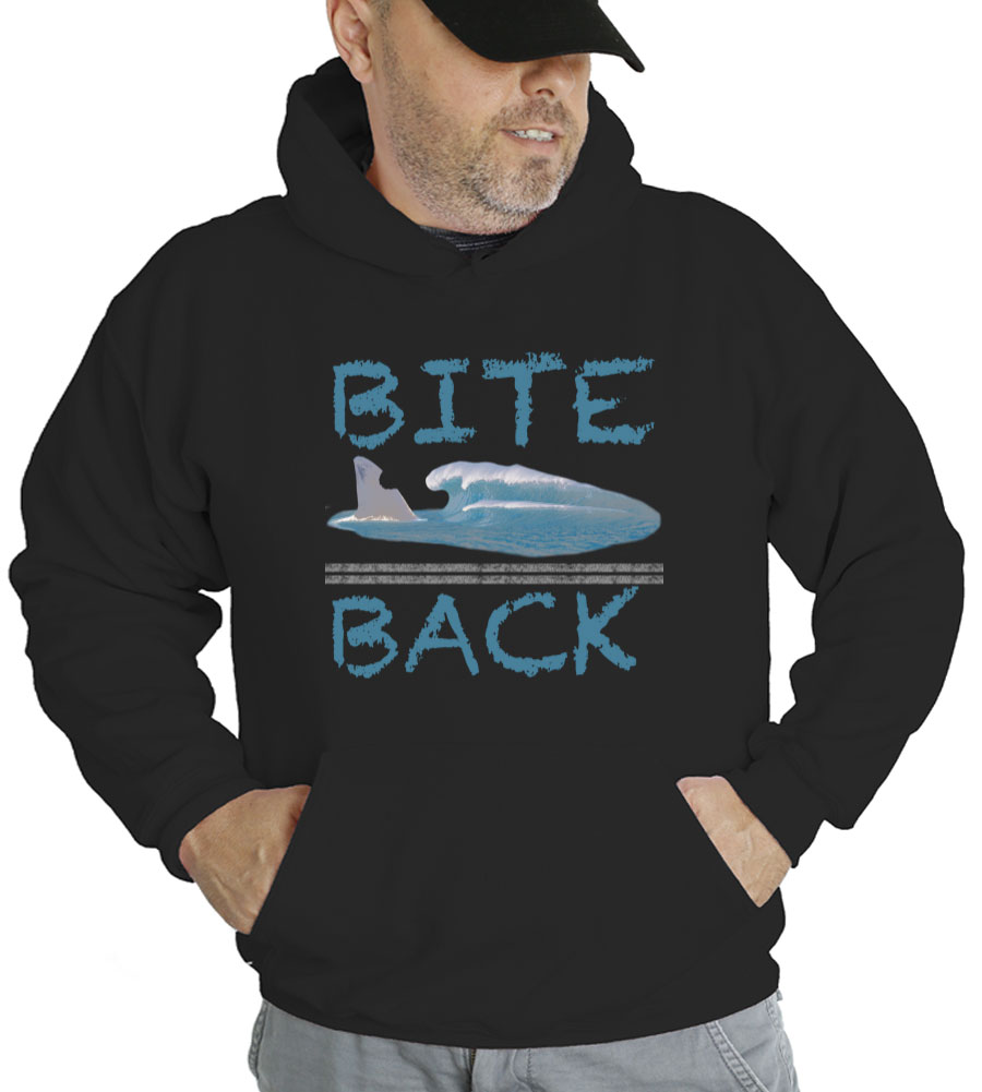 Bite Back Shark Hooded Sweatshirt